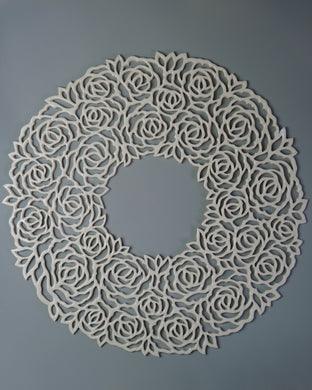 Rose Wreath Wall Art