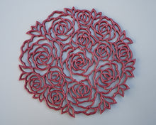 Load image into Gallery viewer, Rose Wall Art in Red