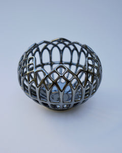 Gothic Window Luminary in Pewter