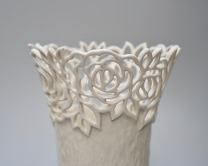 Rose Vase in Classic White- Large