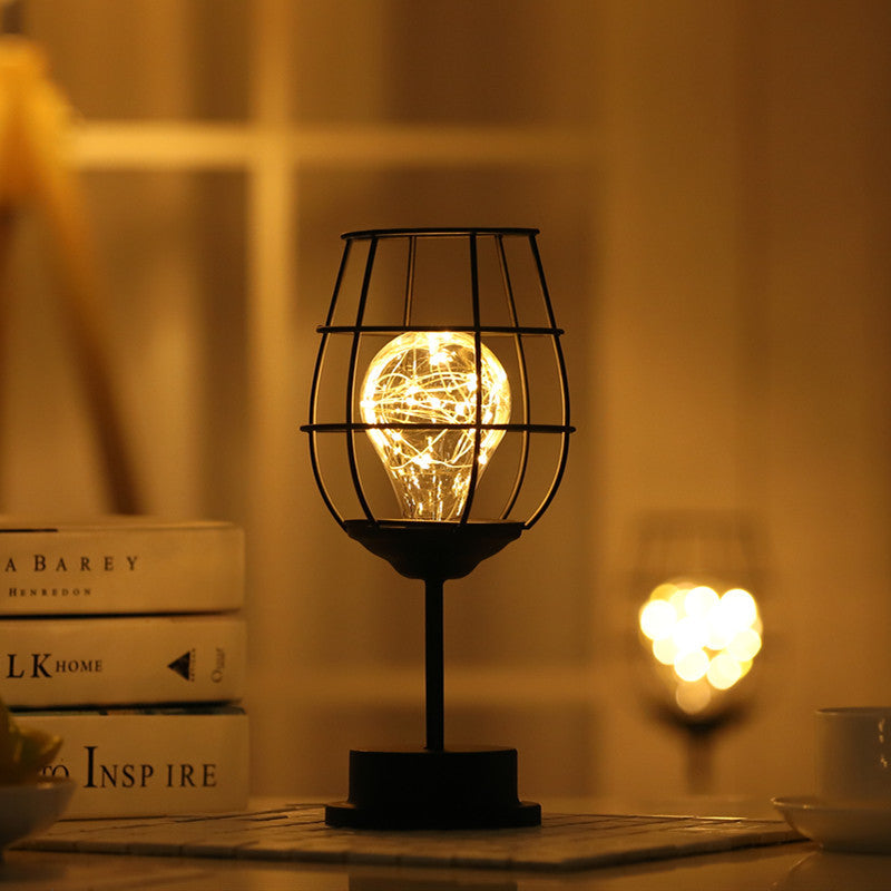 Iron Cage Desk Lamp-Lighting-SAAY