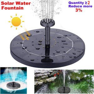 Amazon hot sale solar fountain floating outdoor pool water feature flowing water floating fountain-SAAY