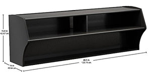 "Prepac BCAW-0200-1 Altus Wall Mounted Audio/Video Console 48.5""W x 16.75""H x 16""D Black"