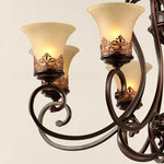 LightInTheBox Island Country Vintage Style Chandeliers Flush Mount Painting Lighting Fixture Lamp