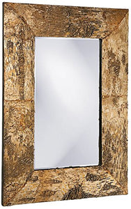 Howard Elliott Kawaga Mirror, Natural Birch Bark Frame, Rustic Lodge Decor