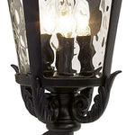 "Casa Marseille 27 1/2"" High Black Outdoor Wall Light"
