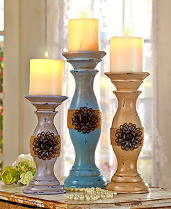 Set of 3 Vintage Inspired Candleholder Set by GetSet2Save