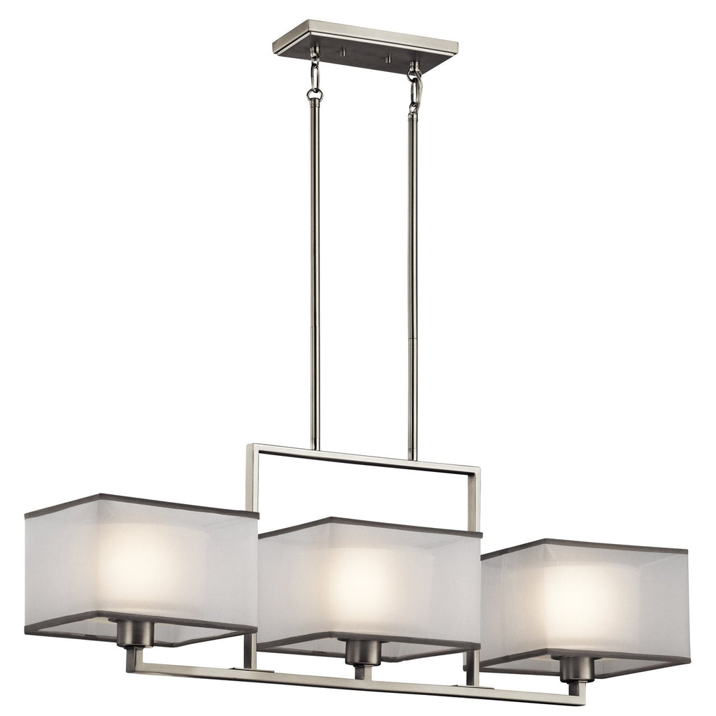 Kichler 43437NI, Kailey Large 1 Tier Chandelier Lighting, 3 Light, Brushed Nickel
