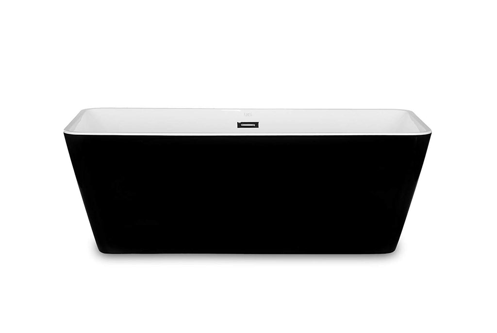 "1001Now Garda 67"" BLACK Freestanding Acrylic Bathtub"