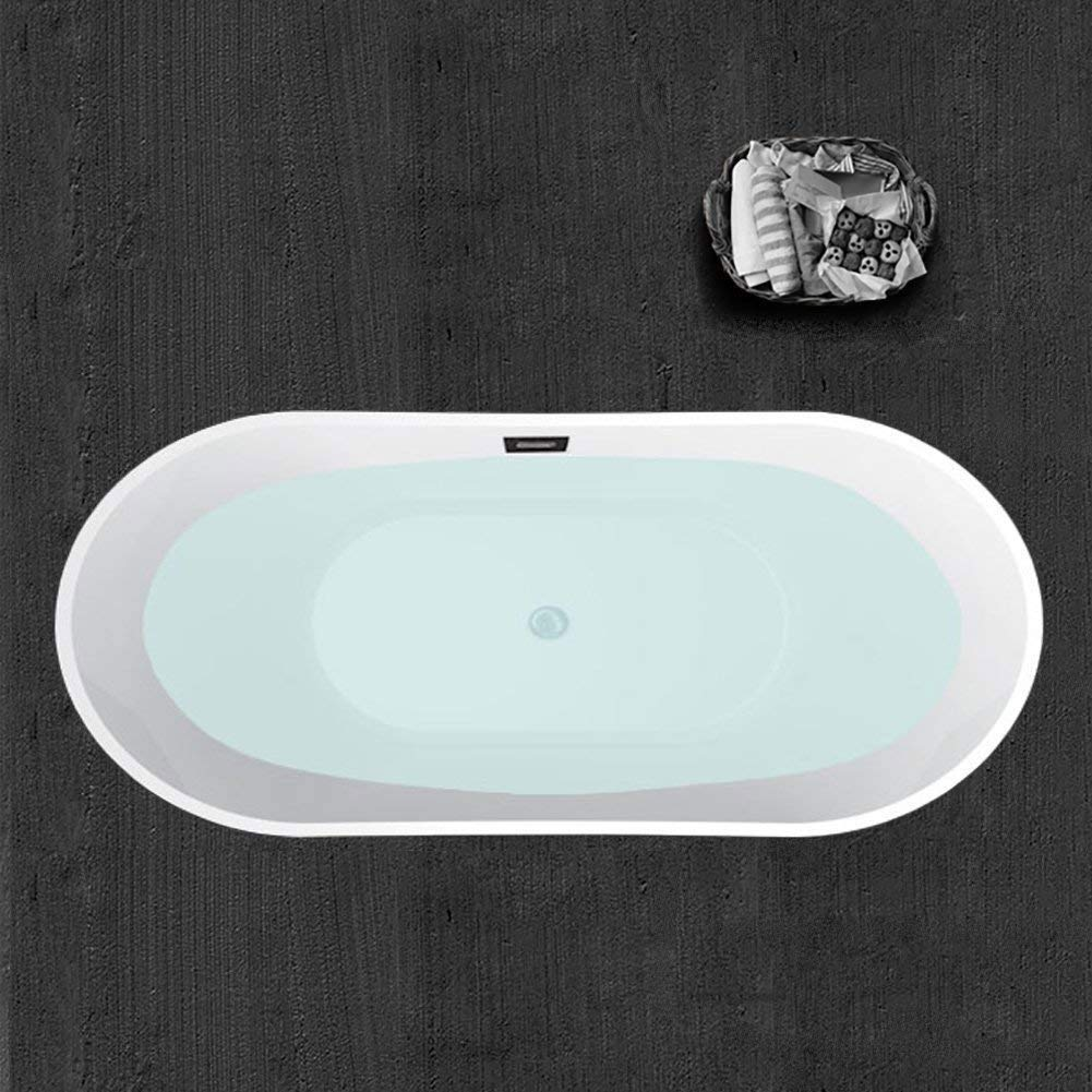 "Woodbridge B-0010 67""X32"" Acrylic Freestanding Bathtub Tub with Brushed Nickel Overflow and Drain, B-0010/BTA1515 White, 67"""