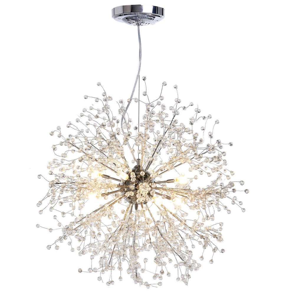 GDNS Contemporary Firework Crystal Chandeliers,Pendant Lighting,Ceiling Lights Fixtures for Living Room Bedroom Restaurant Porch