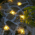ASTRAEUS Solar Brick Light Solar Ice Light Ice Cube Lights Buried Light Paver for Garden Courtyard Pathway Patio Outdoor Decoration 4 Pack Warm White(Upgraded Package)