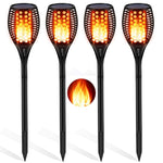 Aityvert Solar Torch Lights Upgraded, Waterproof Flickering Flame Solar Torches Dancing Flames Landscape Decoration Lighting Dusk to Dawn Outdoor Security Solar Light for Garden Patio Driveway 4 Packs