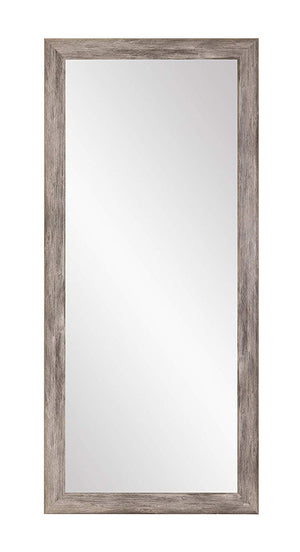 BrandtWorks Barn Wood Full Length Floor Vanity Wall Mirror, 33 x 67, Gray