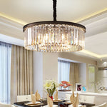 "Meelighting Crystal Chandeliers Modern Contemporary Ceiling Lights Fixtures Pendant Lighting Dining Room Living Room Chandelier D21.6"" H7.1"""