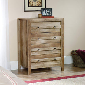"Sauder 418175 Dakota Pass 4-Drawer Chest, L: 32.68"" x W: 17.52"" x H: 43.23"", Craftsman Oak finish"