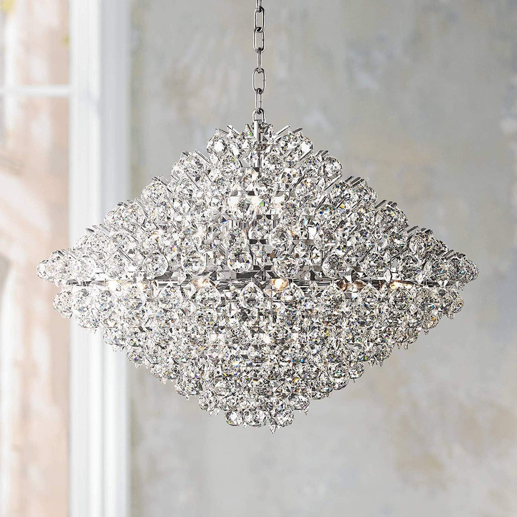 "Essa 31 1/2"" Wide Crystal Pendant Chandelier - Vienna Full Spectrum"