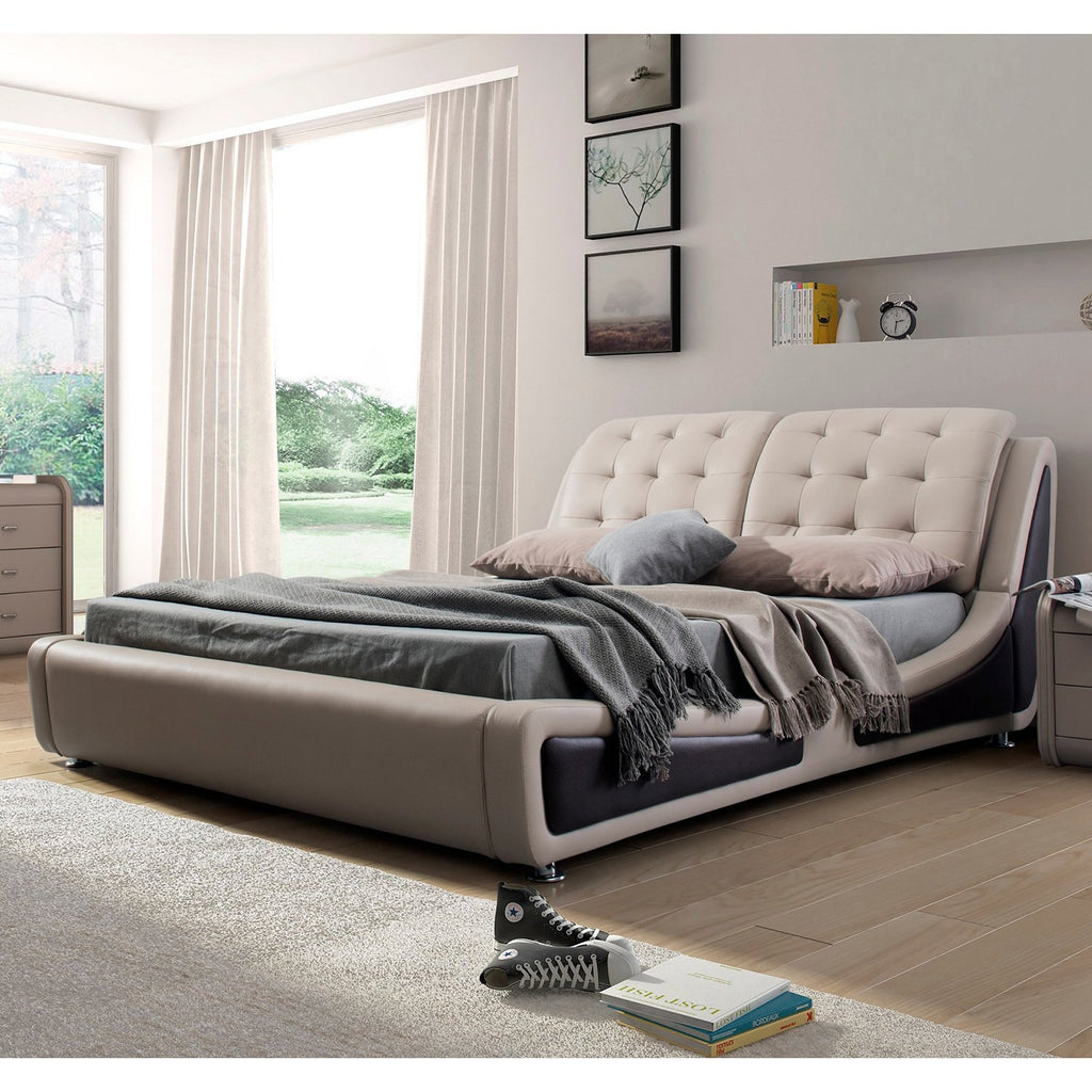 US Pride Furniture B8049-QB Contemporary Platform Bed Queen Size Brown