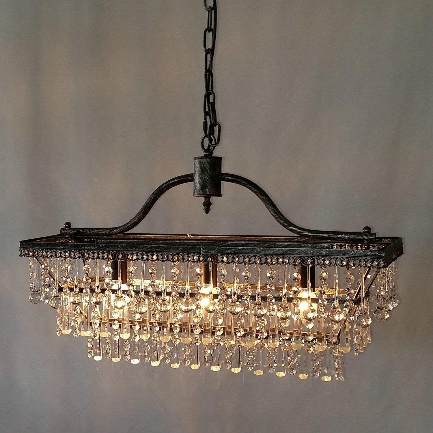 LightInTheBox Traditional Crystal Chandeliers Pendant Lights Ceiling Lamp Fixture