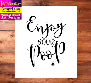 TheNameStore Bathroom Quotes and Sayings Art Prints | Set of Four Photos 8x10 Unframed | Great Gift for Bathroom Decor