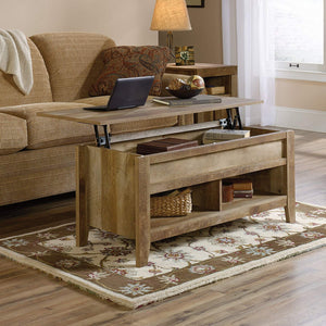"Sauder 420011 Dakota Pass Lift Top Coffee Table, L: 43.15"" x W: 19.45"" x H: 19.02"", Craftsman Oak finish"