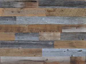 East Coast Rustic Artisan Reclaimed Wood Wall Panels - Decorative Removable Home Decor That Mounts to Wall | Crafted from Genuine Historical Barn Wood Planks for Unfinished Natural Weathering