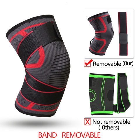 Image of Fitness Band Removable Pressurized Knee Pads Braces Protector Support