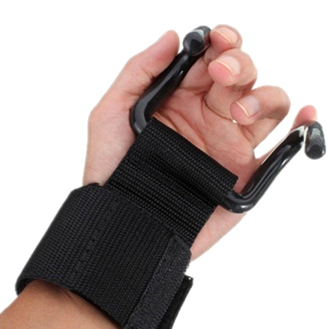Image of Fitness Wrist Support Gloves Weightlifting Hook Training Gym Grip Strap