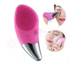 Mini Electric Facial Cleansing Brush Silicone Sonic Deep Pore Face Cleaner