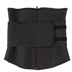 Abdominal Belt High Compression Zipper Plus Size Latex Waist Cincher Corset Body Trainer