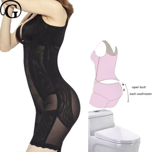 Plus Size Push Up Body Shaper Bodysuit