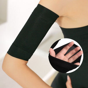 Infused Fiber Arm Compression Sleeve Slimming Shaper and Warmer 2Pcs