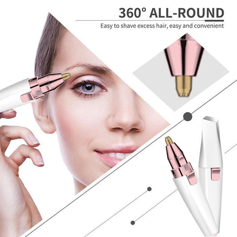 Image of Professional Eyebrow Epilator 2 In 1 Trimmer