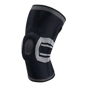 Fitness Training Knee Compression Protector Brace Elastic Silicone Spring Pad