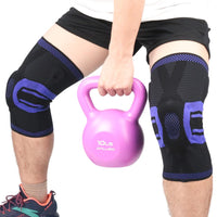 Knee Compression Protector Brace Elastic Silicone Spring Pad Fitness Training