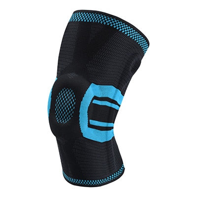 Image of Fitness Training Knee Compression Protector Brace Elastic Silicone Spring Pad