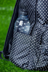 Golf ball dotted backpack
