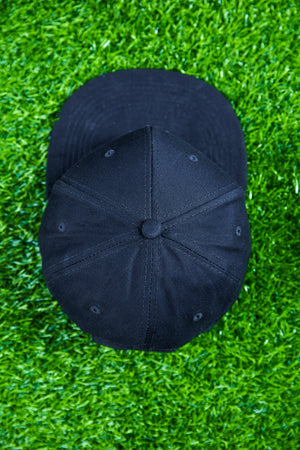 Black cap with white logo