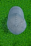Checkered baseball cap