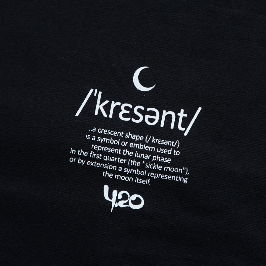 T-Shirt Crescent Moon Black - 4.20 Official