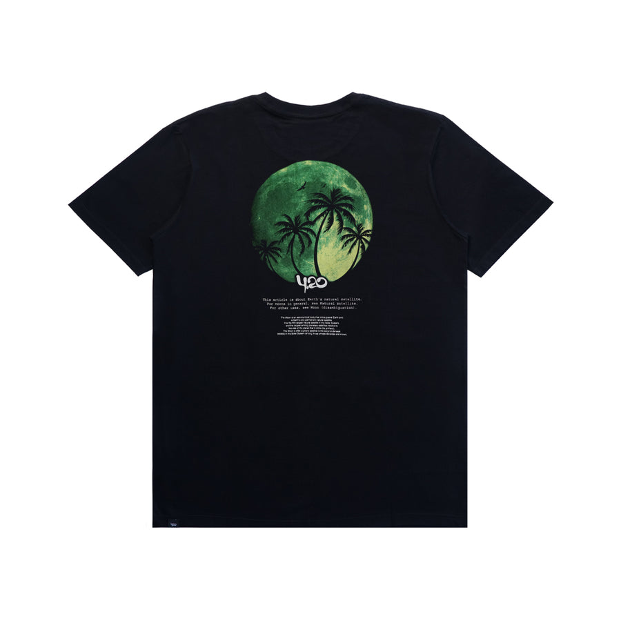 T-Shirt Moon Green Black