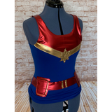 Captain Marvel Inspired Women's Tank Top - Superhero Running Costume Tank