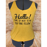 Yellow Hello! Women's Tank Top