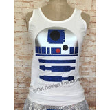 Droid Running Costume Tank Top, R2D2 Inspired