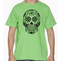 Iowa Cycling Sugar Skull T-Shirt