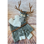 Faux Fur Sven Inspired Costume -Cartoon Reindeer Costume