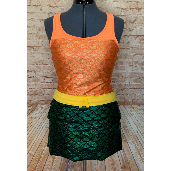 Retro Style Aquaman Inspired Women's Running Costume