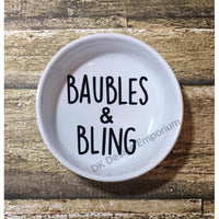 Baubles & Bling Ceramic Ring Dish