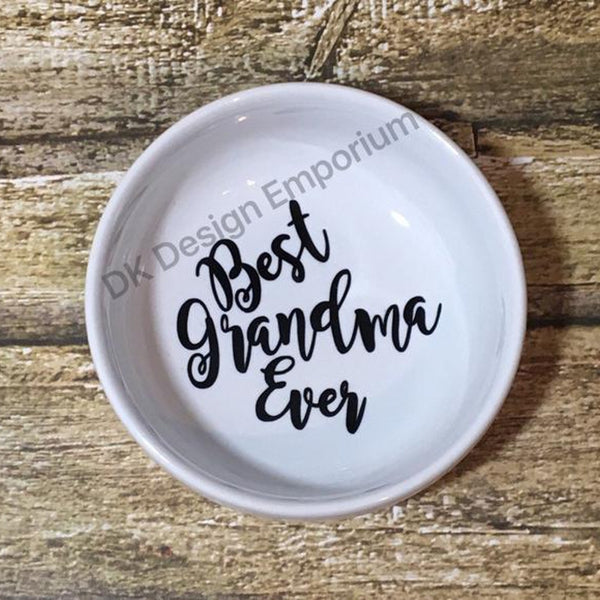 Best Grandma Ever Ceramic Ring Dish