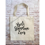Best Grandma Ever Canvas Tote Bag